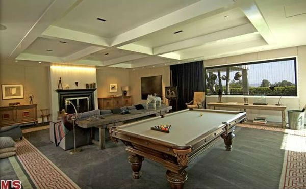 An view of the $49 million Beverly Hills home of Ellen DeGeneres and Portia de Rossi. The home comes complete with 9 bedrooms and 11 bathrooms.<br />The property spans nearly 3 acres and features two guest houses, antique furniture and rugs, sculptures, a
