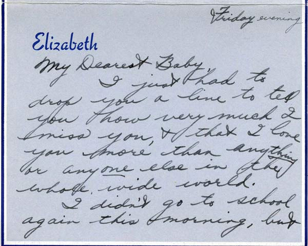 A love letter from a 17-year-old Elizabeth...