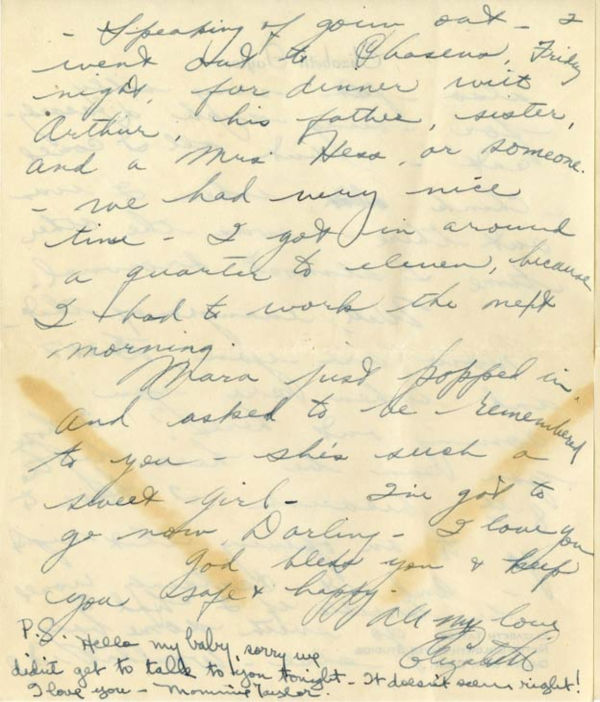 "<div class=""meta image-caption""><div class=""origin-logo origin-image ""><span></span></div><span class=""caption-text"">A love letter from a 17-year-old Elizabeth Taylor to William Pawley Jr., 28, in 1949. Pawley was Taylor's first fiancee but the two split before ever tying the knot. The letters were sold at an auction on May 19 for $47,652. (Photo/RR Auction)</span></div>"