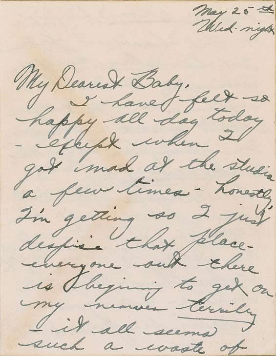 A love letter from a 17-year-old Elizabeth Taylor to William Pawley Jr., 28, in 1949. Pawley was Taylor&#39;s first fiancee but the two split before ever tying the knot. The letters were sold at an auction on May 19 for &#36;47,652. <span class=meta>(Photo&#47;RR Auction)</span>