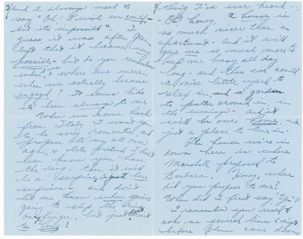"<div class=""meta ""><span class=""caption-text "">A love letter from a 17-year-old Elizabeth Taylor to William Pawley Jr., 28, in 1949. Pawley was Taylor's first fiancee but the two split before ever tying the knot. The letters were sold at an auction on May 19 for $47,652. (Photo/RR Auction)</span></div>"
