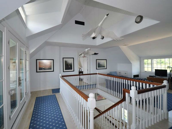 "<div class=""meta image-caption""><div class=""origin-logo origin-image ""><span></span></div><span class=""caption-text"">Katharine Hepburn's former Connecticut home sits on 3.4 acres of land and includes over 8,300 square feet of living space inside. It has three floors and six bedrooms, each with their own bathroom. The home also features seven and a half bathrooms in total, a three-car garage, three fireplaces and marble countertops in the kitchen. It is surrounded by the Long Island Sound on the south and a pond on the north.  (Photo/Sotheby's Realty)</span></div>"