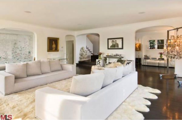 Katy Perry and Russell Brand's Los Angeles home. The four-bedroom, four and a half-bathroom house is 4,700 square feet and was put on the market in the spring of 2011 for $3.3 million.
