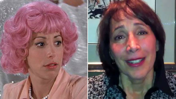Conn acting in 'Grease' on the right and in an 'It Gets Better' campaign video on the right.