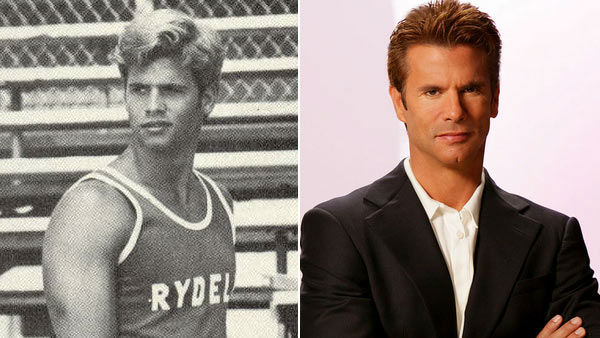 Lamas appears in 'Grease' on the left and in a promotional photo from his appearance on 'The Bold and the Beautiful' on the right.