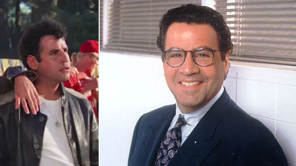 Tucci appears in 'Grease' on the left and...