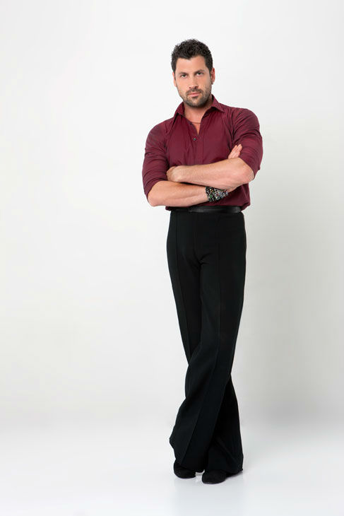 Dance professional Maksim Chmerkovskiy is partnered with U.S. soccer star Hope S