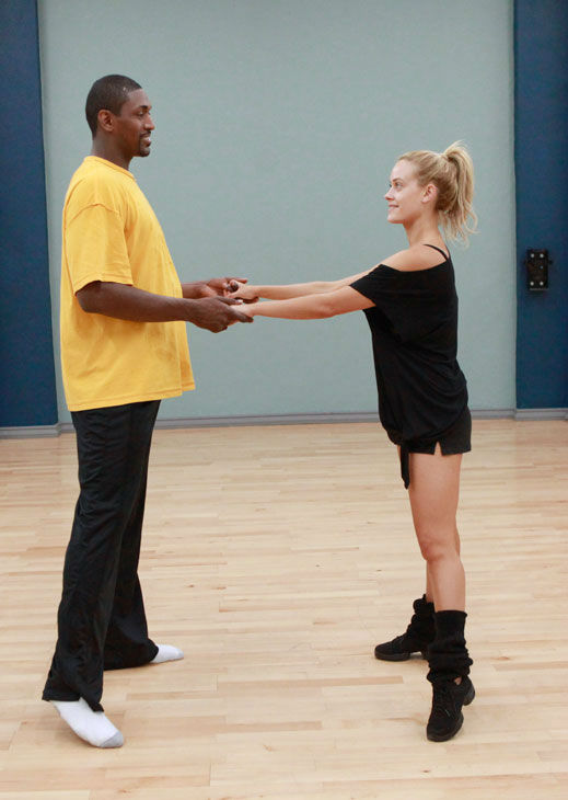 "<div class=""meta ""><span class=""caption-text "">Los Angeles Laker Ron Artest and partner Peta Murgatroyd appear in a rehearsal photo for season 13 of 'Dancing With the Stars.' (ABC Photo/ Greg Zabilski)</span></div>"