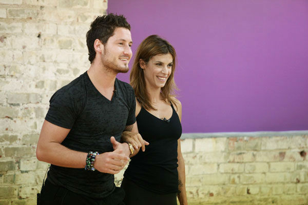 Italian actress and George Clooney&#39;s ex-girlfriend Elisabetta Canalis and partner Val Chmerkovskiy appear in a rehearsal photo for season 13 of &#39;Dancing With the Stars.&#39; <span class=meta>(ABC Photo&#47; Greg Zabilski)</span>