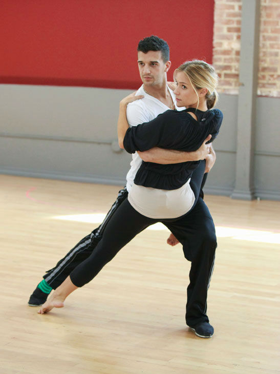 Reality star Kristin Cavallari and partner Mark Ballas appear in a rehearsal photo for season 13 of &#39;Dancing With the Stars.&#39; <span class=meta>(ABC Photo&#47; Greg Zabilski)</span>