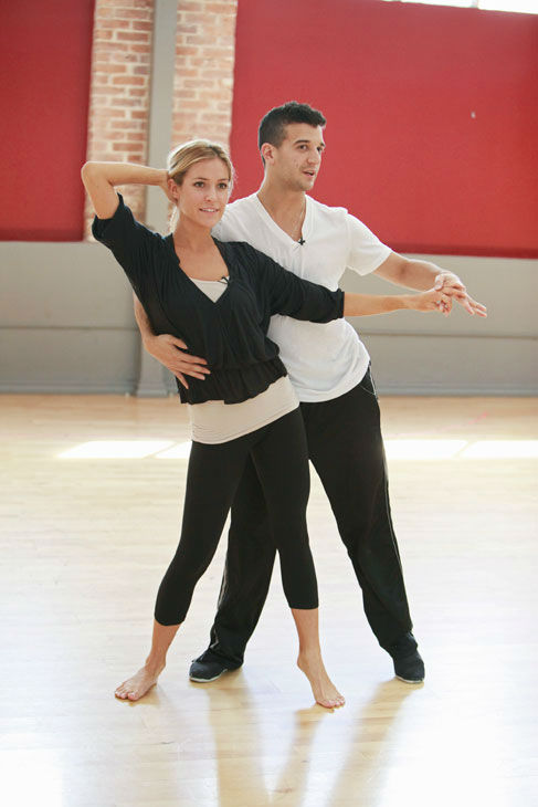 "<div class=""meta ""><span class=""caption-text "">Reality star Kristin Cavallari and partner Mark Ballas appear in a rehearsal photo for season 13 of 'Dancing With the Stars.' (ABC Photo/ Greg Zabilski)</span></div>"