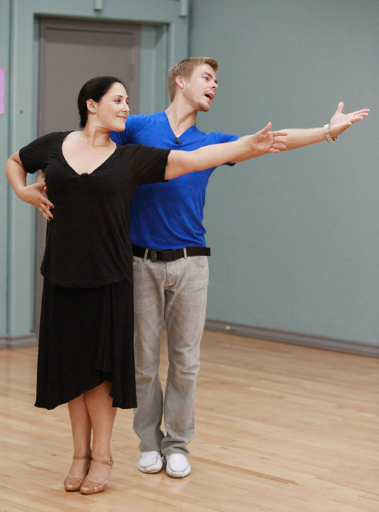 "<div class=""meta ""><span class=""caption-text "">Actress and talk show host Ricki Lake and partner Derek Hough appear in a rehearsal photo for season 13 of 'Dancing With the Stars.' (ABC Photo/ Greg Zabilski)</span></div>"