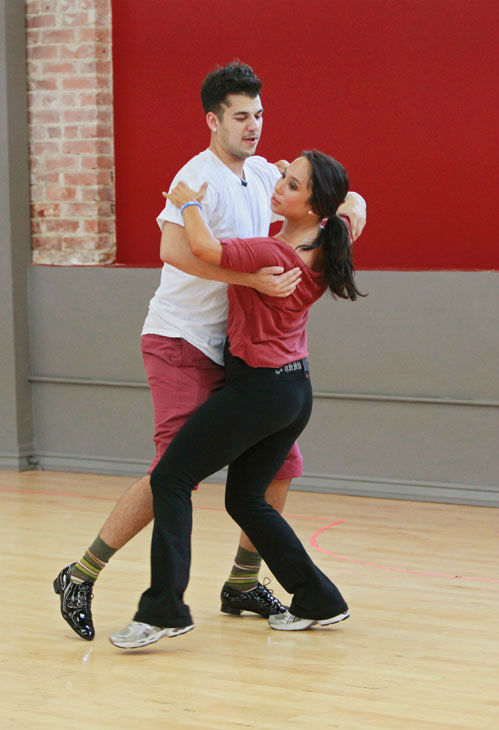Rob Kardashian and Cheryl Burke appear in a...