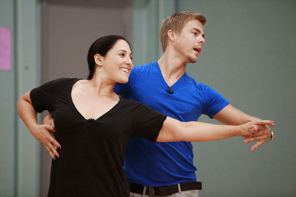 "<div class=""meta image-caption""><div class=""origin-logo origin-image ""><span></span></div><span class=""caption-text"">Actress and talk show host Ricki Lake and partner Derek Hough appear in a rehearsal photo for season 13 of 'Dancing With the Stars.' (ABC Photo/ Greg Zabilski)</span></div>"