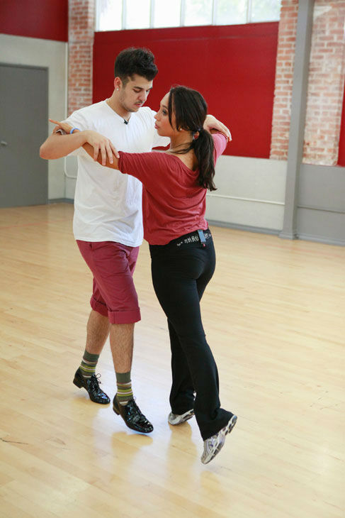 Rob Kardashian and Cheryl Burke appear in a rehearsal photo for season 13 of 'Dancing With the Stars.'