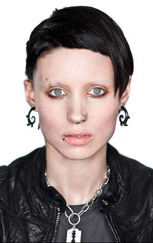 Mara in a promotional still for 'The Girl With The Dragon Tattoo