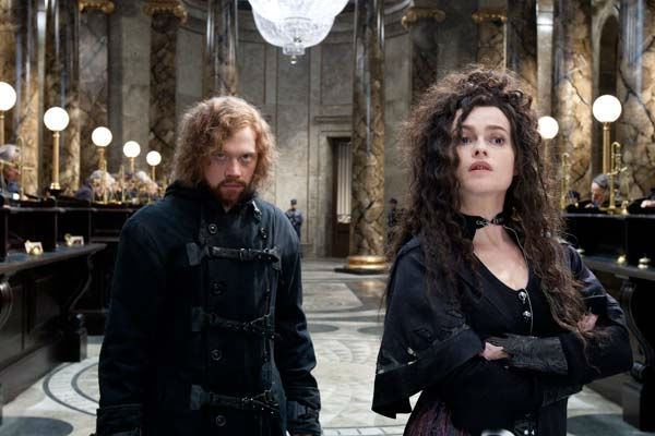 Ron Weasley (Rupert Grint) and Bellatrix Lestrange (Helena Bonham Carter) appear in a scene from the 2011 film 'Harry Potter and the Deathly Hallows - Part 2.'