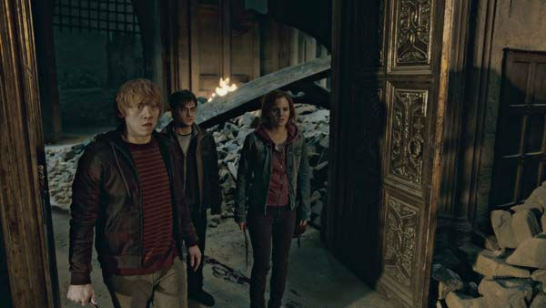 Ron Weasley &#40;Rupert Grint&#41;, Harry Potter &#40;Daniel Radcliffe&#41; and Hermione Granger &#40;Emma Watson&#41; appear in a scene from the 2011 film &#39;Harry Potter and the Deathly Hallows - Part 2.&#39; <span class=meta>(Warner Bros. Pictures)</span>