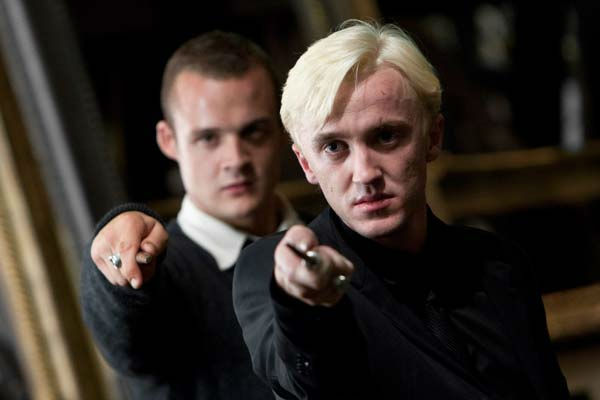 Gregory Goyle (Josh Herdman) and Draco Malfoy...