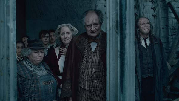 Professor Pomona Sprout &#40;Miriam Margolyes&#41;, Madam Pomfrey &#40;Gemma Jones&#41;, Professor Horace Slughorn &#40;Jim Broadbent&#41; and Argus Filch &#40;David Bradley&#41; appear in a scene from the 2011 film &#39;Harry Potter and the Deathly Hallows - Part 2.&#39; <span class=meta>(Warner Bros. Pictures)</span>