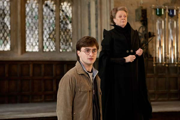 Harry Potter &#40;Daniel Radcliffe&#41; and Professor Minerva McGonagall &#40;Maggie Smith&#41; appear in a scene from the 2011 film &#39;Harry Potter and the Deathly Hallows - Part 2.&#39; <span class=meta>(Warner Bros. Pictures)</span>