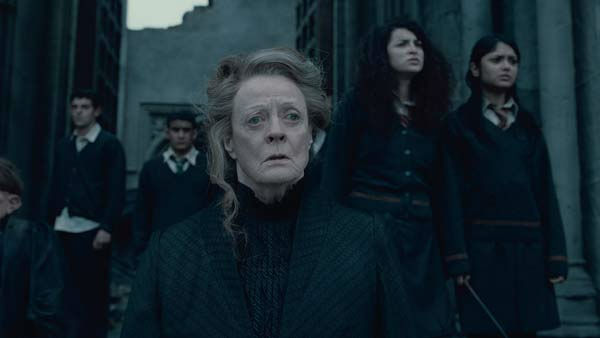 Professor Minerva McGonagall (Maggie Smith) appears in a scene from the 2011 film 'Harry Potter and the Deathly Hallows - Part 2.'
