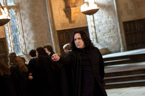 Professor Severus Snape (Alan Rickman) appears...