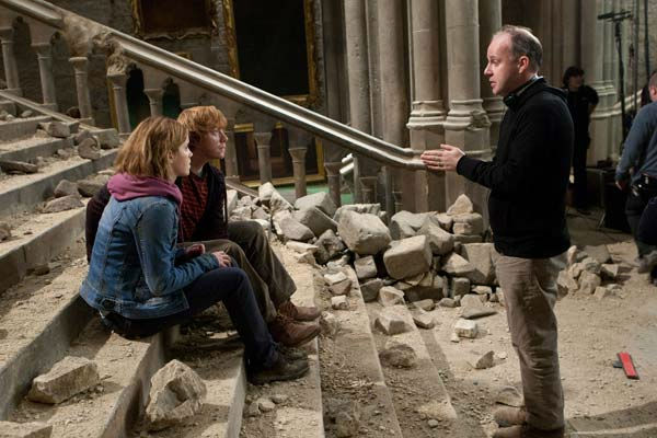Emma Watson, Rupert Grint and director David Yates appear on the set of the 2011 film &#39;Harry Potter and the Deathly Hallows - Part 2.&#39; <span class=meta>(Warner Bros. Pictures)</span>