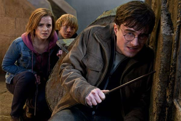 Hermione Granger &#40;Emma Watson&#41;, Ron Weasley &#40;Rupert Grint&#41; and Harry Potter &#40;Daniel Radcliffe&#41; appear in a scene from the 2011 film &#39;Harry Potter and the Deathly Hallows - Part 2.&#39; <span class=meta>(Warner Bros. Pictures)</span>