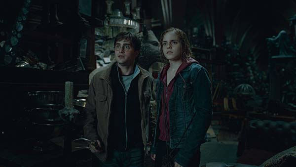 Harry Potter (Daniel Radcliffe) and Hermione Granger (Emma Watson) appear in a scene from the 2011 film 'Harry Potter and the Deathly Hallows - Part 2.'
