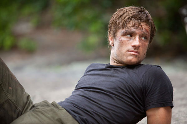 Josh Hutcherson appears in a scene from 'The Hunger Games.'