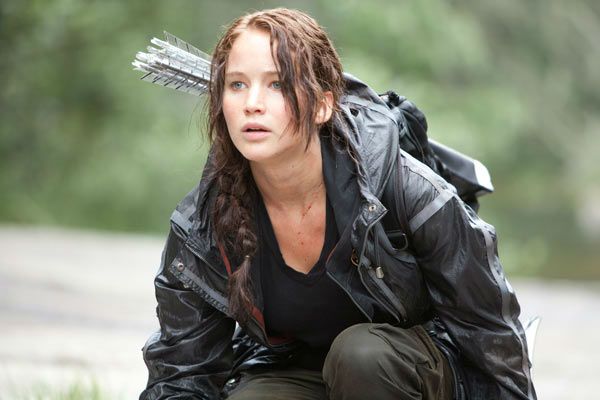 Jennifer Lawrence appears in a scene from 'The Hunger Games.'