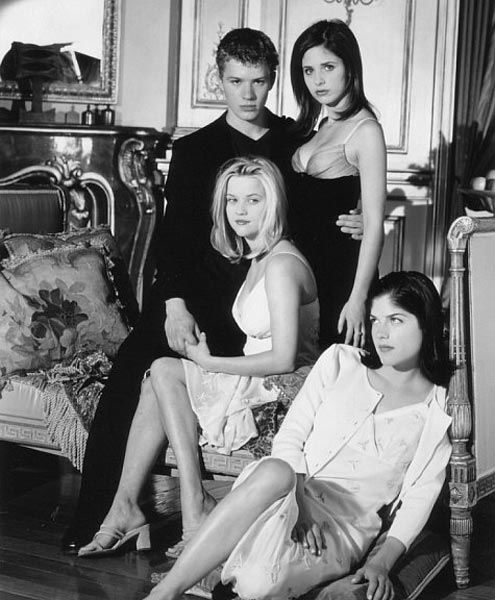 Witherspoon filed for a divorce from Ryan Phillippe in November, 2006 and demanded sole custody for their children Ava and Deacon.&#40;Pictured: Ryan Phillipe, Sarah Michelle Gellar, Reese Witherspoon and Selma Blair appear in a promotional photo from their 1999 film, &#39;Cruel Intentions.&#39;&#41; <span class=meta>(Columbia Pictures)</span>