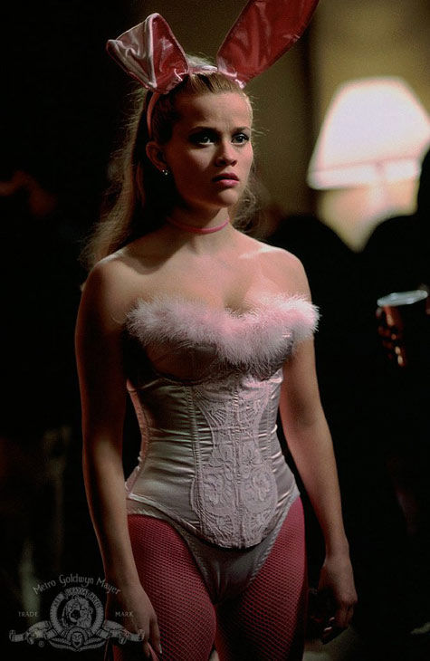 Witherspoon was a cheerleader in high school and a debutante. &#40;Pictured: Reese Witherspoon appears in a still from &#39;Legally Blonde.&#39;&#41; <span class=meta>(MGM)</span>