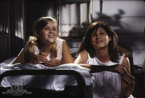Reese Witherspoon  and Emily Warfield appear in a still from their 1991 film, 'The Man in the Moon.'