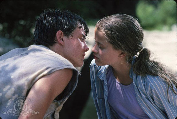 Jason London and Reese Witherspoon appear in a still from their 1991 film, 'The Man in the Moon.'