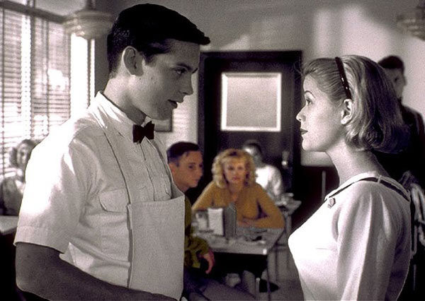 Reese Witherspoon is the Global Ambassador of Avon Products.  &#40;Pictured: Tobey Maguire and Reese Witherspoon appear in a still from their 1998 film, &#39;Pleasantville.&#39;&#41; <span class=meta>(New Line Cinema)</span>