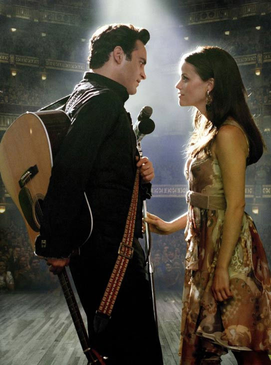 Joaquin Phoenix and Reese Witherspoon performed all of the songs in &#34;Walk the Line&#34; themselves and learned to play their instruments &#40;guitar and auto-harp respectively&#41; with no prior experience. &#40;Pictured: Joaquin Phoenix and Reese Witherspoon appear in still from their 2005 film, &#39;Walk the Line.&#39;&#41; <span class=meta>(Twentieth Century Fox)</span>