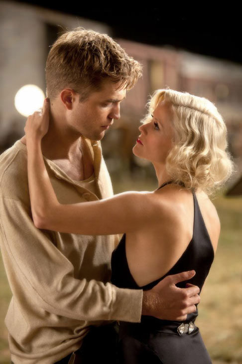 In a deleted scene from Witherspoon&#39;s movie &#39;Vanity Fair,  she plays Robert Pattinson&#39;s mother, in &#39;Water for Elephants,&#39; they play lovers. &#40;Robert Pattinson and Reese Witherspoon appear in a still from their 2011 film, &#39;Water for Elephants.&#39;&#41; <span class=meta>(Twentieth Century Fox)</span>