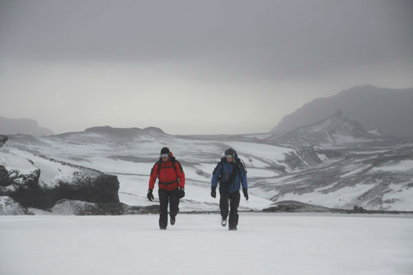 "<div class=""meta ""><span class=""caption-text "">Jake Gyllenhaal appears with Bear Grylls in an episode of 'Man Vs. Wild' in Iceland. The episode is set to air July 11, at 9 p.m. on the Discovery Channel.  (Discovery Communications)</span></div>"