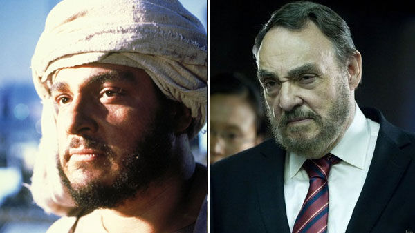 (Pictured John Rhys-Davies appears as Sallah in the 1981 movie 'Raiders of the Lost Ark.' / John Rhys-Davies appears in a scene from the 2011 television movie 'Ferocious Planet.')