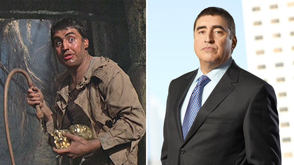 Actor Alfred Molina made his film debut in 'Raiders of the Lost Ark' in 1981 playing Satipo, Jones' guide in the opening sequence set in the South American jungle. Satipo betrays Jones by stealing his golden idol, only to be killed by a trap.<br>Molina we