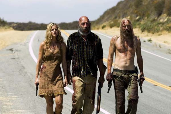 Sheri Moon Zombie, Sid Haig and Bill Moseley(from left to right) appear in a scene from the 2005 movie, 'The Devil's Rejects.'