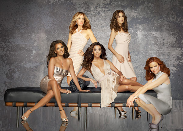 &#39;Desperate Housewives&#39; - starring Teri Hatcher, Felicity Huffman, Marcia Cross, Eva Longoria and Vanessa Williams - returns for its ninth and final season on Sept. 25, 2011, and will air on Sundays from 9 to 10 p.m.  In the Season 8 finale, Susan was cleared of all charges in the attempted poisoning of Paul Young, and she and Mike move back to Wisteria Lane. Bree&#39;s relationship with Detective Vance moves forward, while Tom and Lynette&#39;s marriage continues to disintegrate. After a failed romantic trip to a bed and breakfast, Tom told Lynette he wants to move out for a while. Meanwhile, Gaby discovered her stalker&#39;s identity: it was her stepfather, Alejandro, who raped her years ago. Alejandro threatened Gaby at her home, but Carlos came to her rescue and clubbed him from behind with a heavy candlestick.  Susan, Bree and Lynette arrived at the house to see Alejandro&#39;s dead body on the floor. Gaby explained the whole story, and they decide not to go to the police and carry on their progressive dinner party as if it didn&#39;t happen. <span class=meta>(ABC &#47; Matthew Rolston)</span>