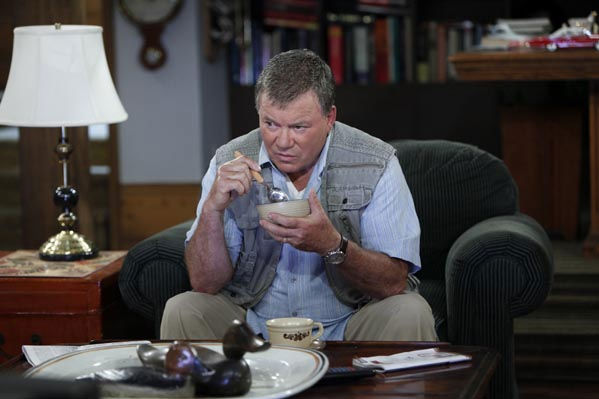 William Shatner is pictured in a scene from...