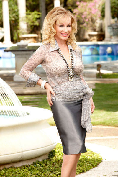 Lea Black poses in a promotional still for 'The Real Houswives of Miami'