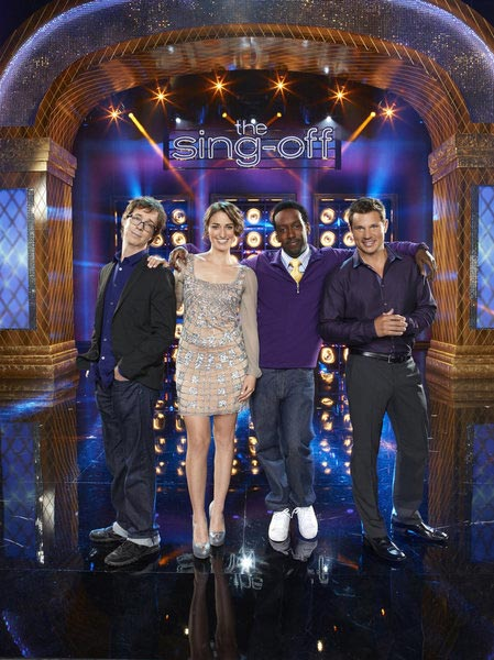 "<div class=""meta image-caption""><div class=""origin-logo origin-image ""><span></span></div><span class=""caption-text"">'The Sing-Off,' NBC's a capella singing competition series, with host Nick Lachey and judges Ben Folds and Shawn Stockman, will return for a third season on Sept. 19, 2011 and will air on Mondays at 8 p.m. Sara Bareilles has replaced Nicole Scherzinger as the third celebrity judge following her departure to FOX's new singing contest series 'The X Factor.' (NBC / Mitchell Haaseth)</span></div>"