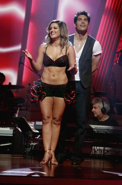 "<div class=""meta ""><span class=""caption-text "">'Psycho' Mike Catherwood and Lacey Schwimmer await possible elimination. The couple received 17 out of 30 from the judges for their Jive on week 2 of 'Dancing With The Stars' on Monday, March 28, 2011. Combined with the first week scores of 13 out of 30, their total is 30 out of 60. (ABC Photo/Adam Taylor)</span></div>"