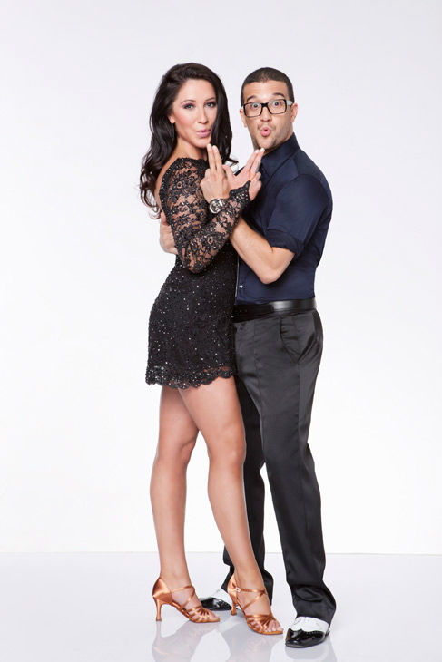 Bristol Palin and Mark Ballas, who were partners in season 11, appear in an official cast photo for 'Dancing With The Stars: All-Stars' season 15.