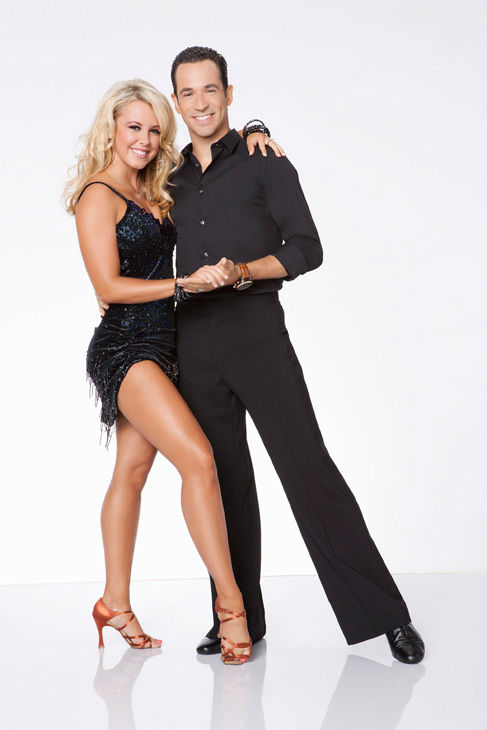 Helio Castroneves and Chelsie Hightower appear in an official cast photo for &#39;Dancing With The Stars: All-Stars&#39; season 15. The new season of &#39;Dancing with the Stars,&#39; premieres on Monday, September 24 at 8 p.m. on ABC. <span class=meta>(ABC &#47; Craig Sjodin)</span>